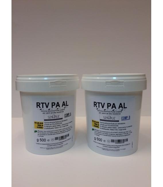 GOMMA SILICONICA RTV PA AL (500 g A+500 g B) - conf. 1 Kg