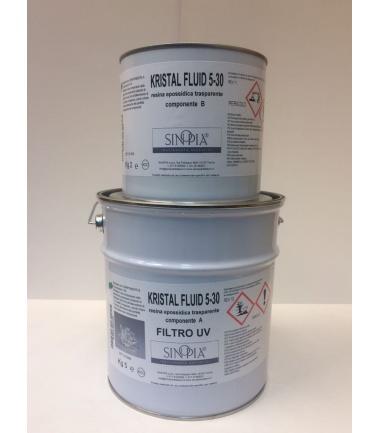 KRISTAL FLUID 5-30 FILTRO UV (comp. 5 KG A+ 2 KG B) - conf. 7 KG