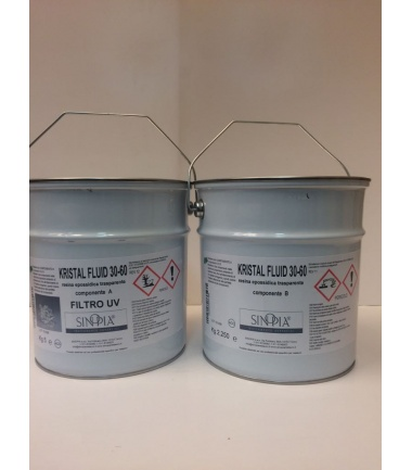 KRISTAL FLUID 30-60 FILTRO UV (conf.5 Kg A+ 2,25 Kg B) - conf. 7,250 KG