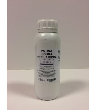 PATINA SCURA PER LAMIERA - conf. 500 ml
