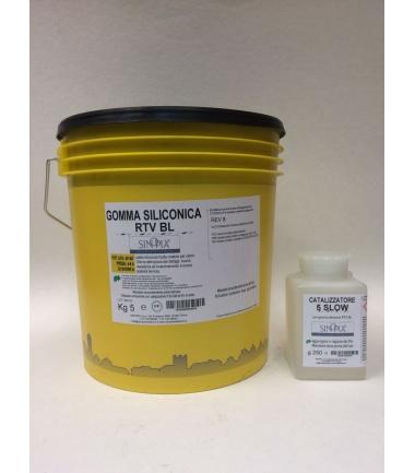 GOMMA SILICONICA RTV BL (5 Kg A+250 g B) - conf. 5,250 Kg
