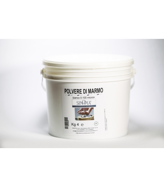 POLVERE MARMO BIANCA 0/100 micron IMPALPABILE - conf. 4 Kg