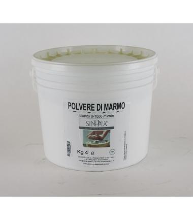 POLVERE MARMO BIANCA 0/1000 micron FINE - conf.4 Kg