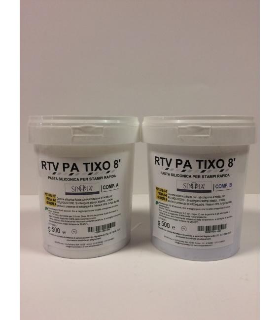RTV PA TIXO 8' (A+B) - conf. 1 Kg