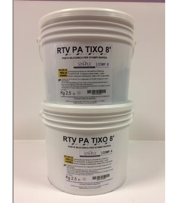 RTV PA TIXO 8' (A+B) - conf. 5 Kg