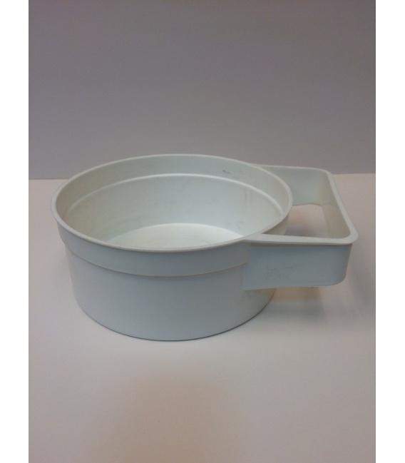 CIOTOLA PLASTICA BIANCA C/IMPUGNATURA d. 18,5 cm*