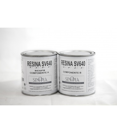 RESINA SV640 SCURA (A+B 100+100 g) - conf. 200 g