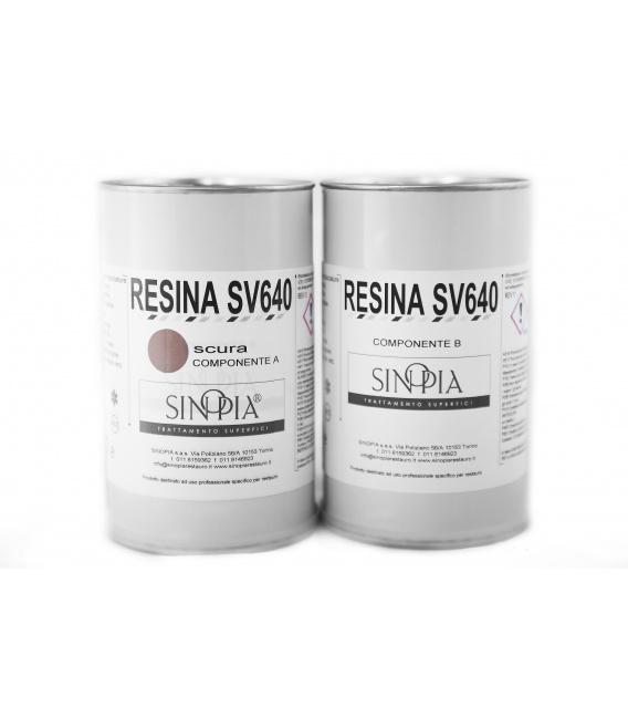 RESINA SV640 SCURA (A+B 500+500 g) - conf. 1 Kg