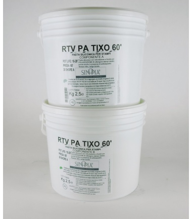 RTV PA TIXO 60' (A+B) - conf. 5 Kg
