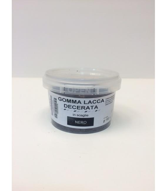 GOMMA LACCA DECERATA NERA SCAGLIE - conf. 100 g