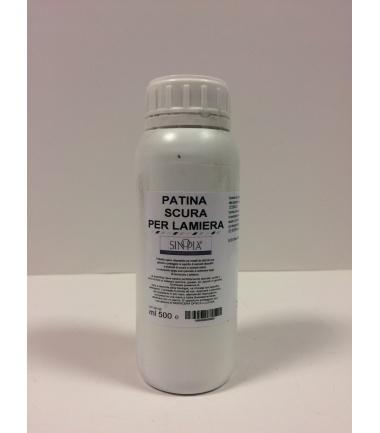 PATINA SCURA PER LAMIERA - conf. 500 ml