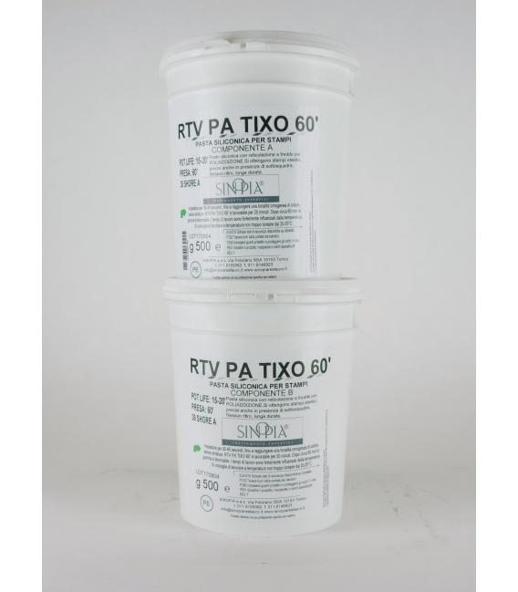 RTV PA TIXO 60' (A+B) AL PLATINO - conf. 1 Kg