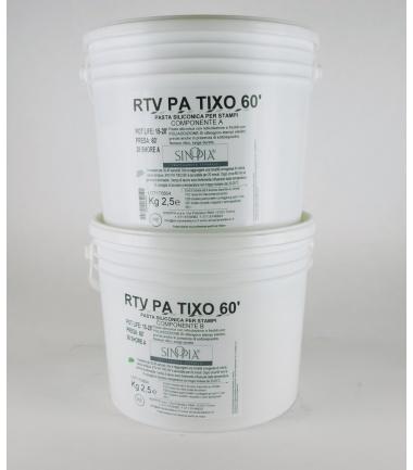RTV PA TIXO 60' (A+B) AL PLATINO - conf. 5 Kg