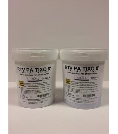 RTV PA TIXO 8' (A+B) AL PLATINO - conf. 1 Kg