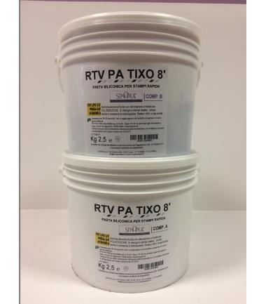 RTV PA TIXO 8' (A+B) AL PLATINO - conf. 5 Kg