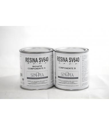 §§ RESINA SV640 SCURA (A+B 100+100 g) - conf. 200 g