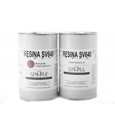 §§ RESINA SV640 SCURA (A+B 500+500 g) - conf. 1 Kg