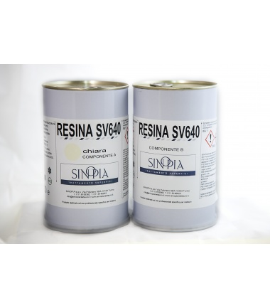 §§ RESINA SV640 CHIARA (A+B 500+500 g) - conf. 1 Kg